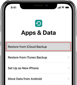 Transfer Apps from iPhone to iPhone via iCloud