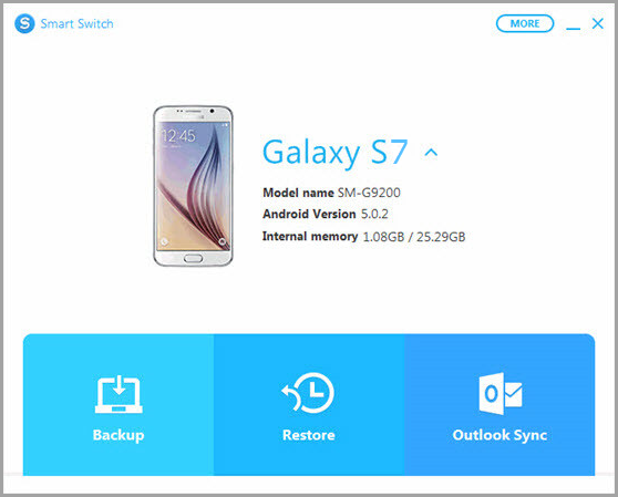Restore SMS with Samsung Smart Switch