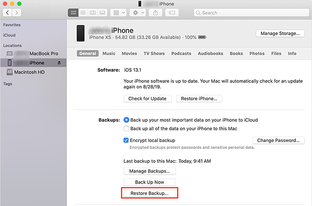 Restore An iPhone's Computer Backup on iPad