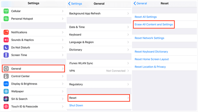 How to Restore iPhone from iCloud Backup with Resetting – Step 1