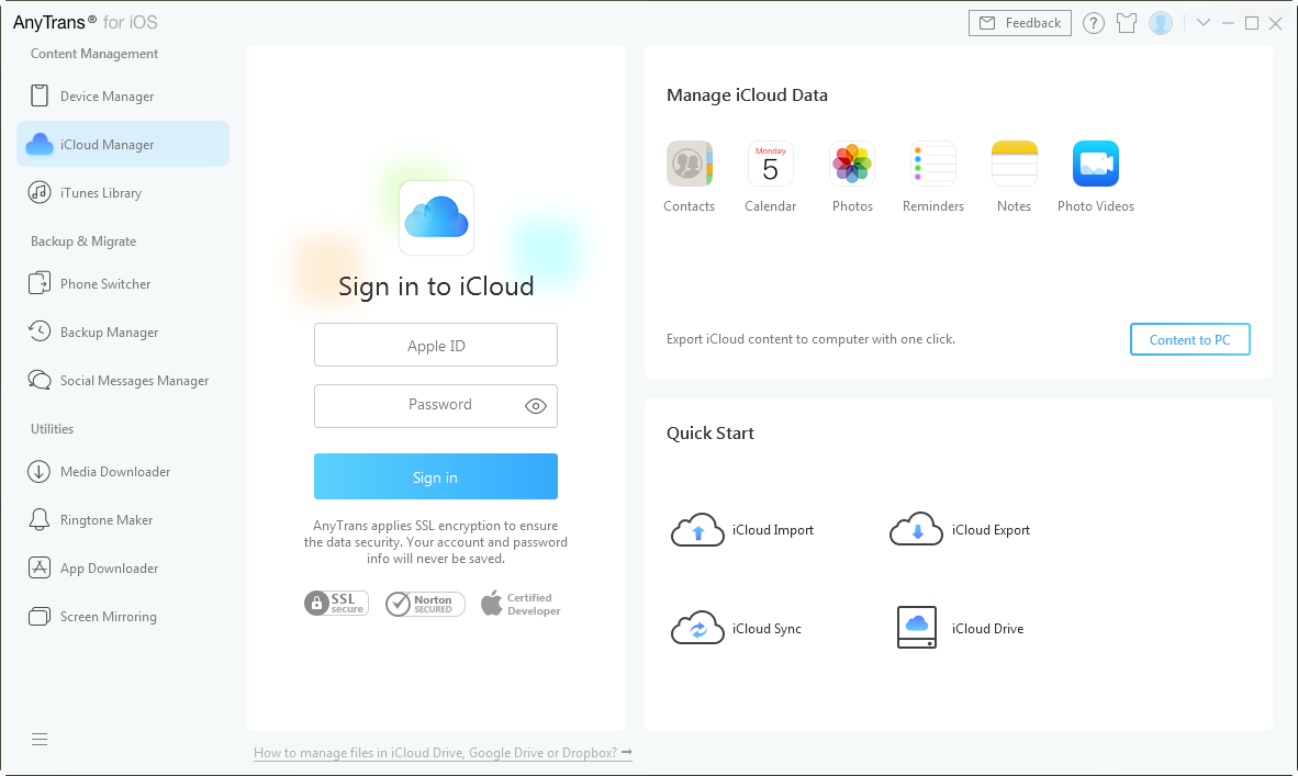 How to Transfer Data from iCloud Backup – Step 1