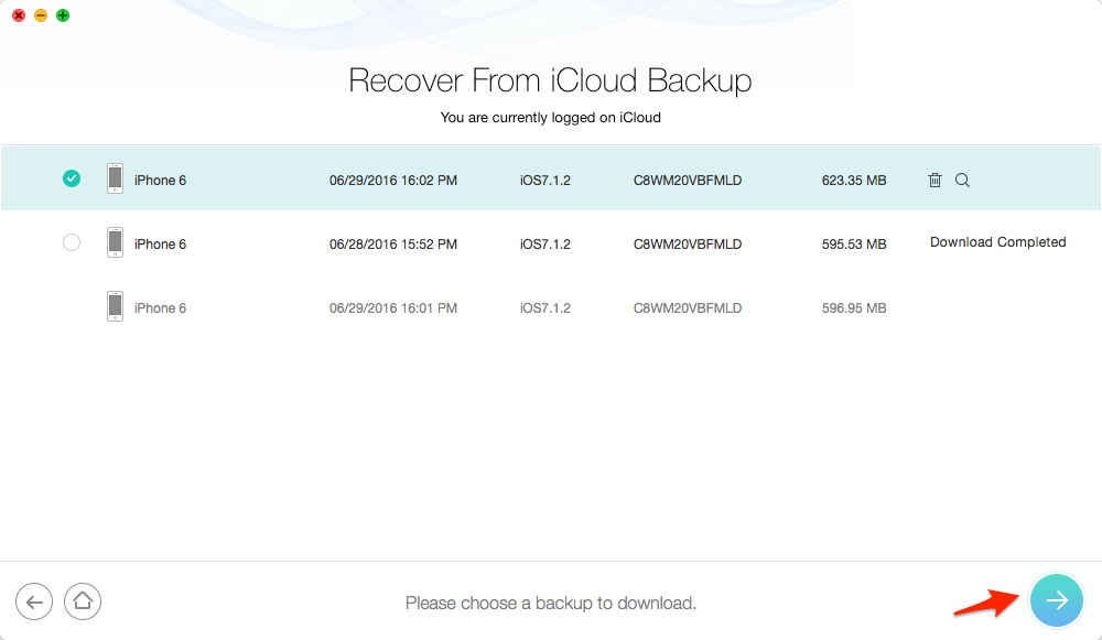 Restore iPhone from iCloud without Resetting – Step 2