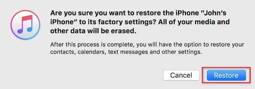 Restore iPhone from Previous iTunes Backup - Step 5