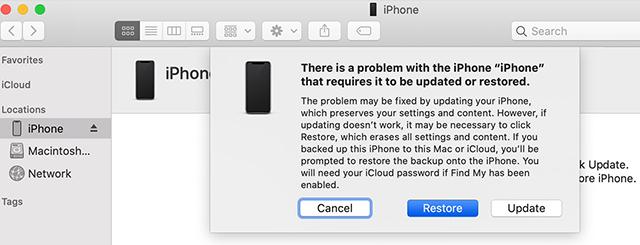 Restore an iPhone in DFU Mode