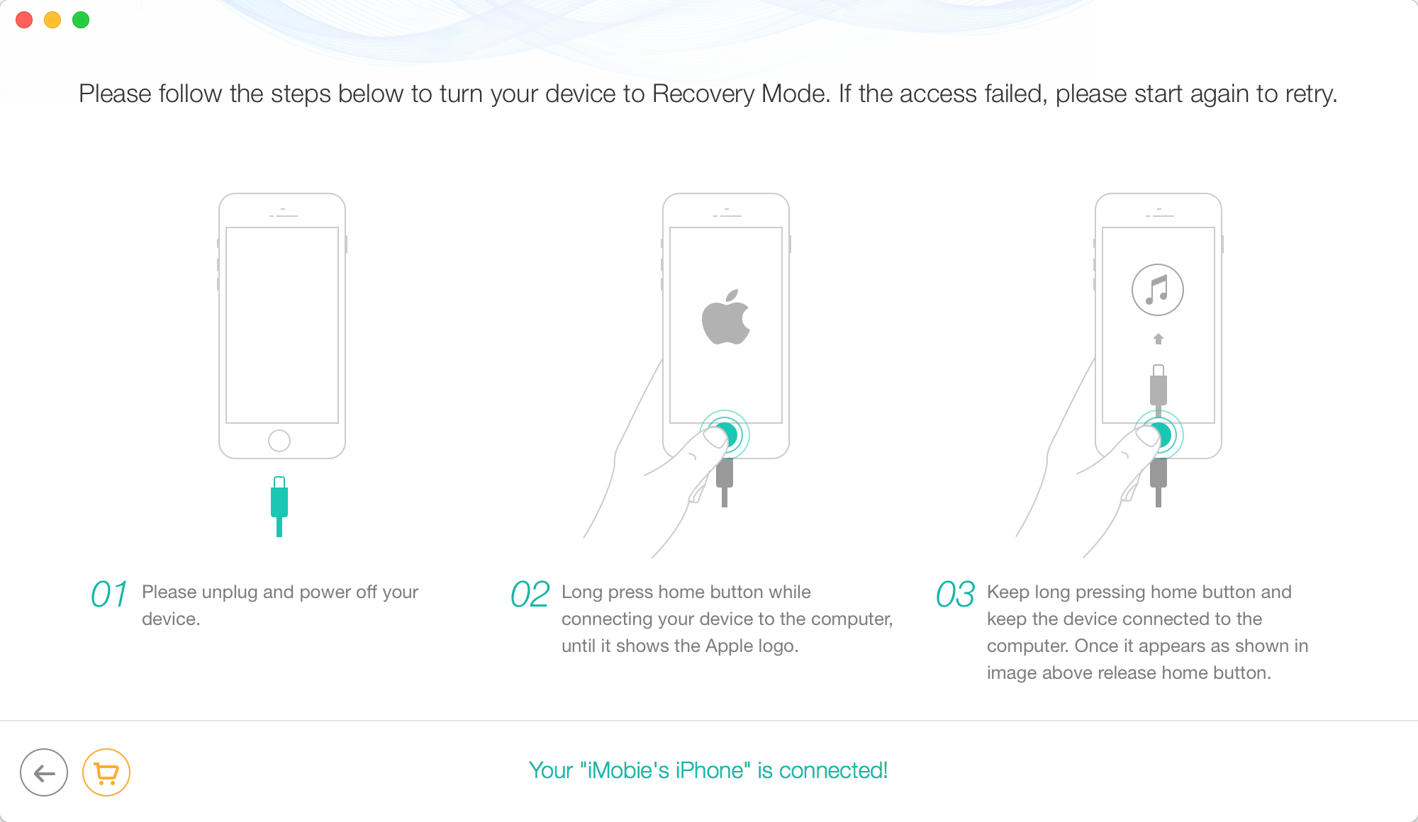 Restore iPhone in Recovery Mode Without iTune - Step 3