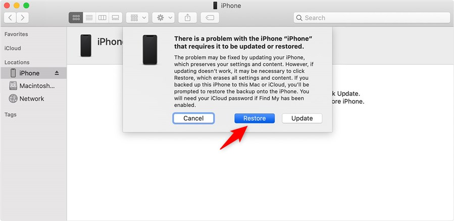 Restore iPhone with Recovery Mode