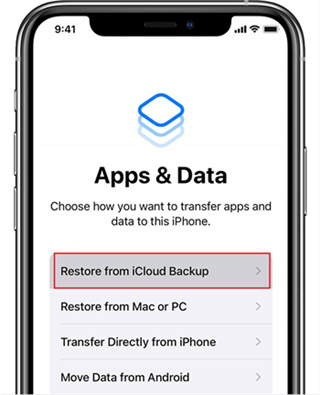 Restore Your New iPhone with iCloud Backup