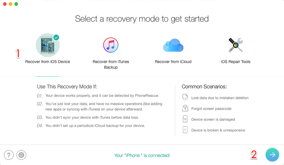 How to Recover Deleted iPhone Contacts without Backup – Step 1