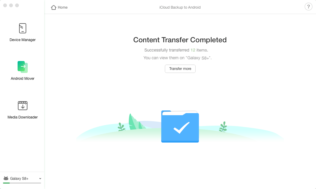 Content Transfer Completed