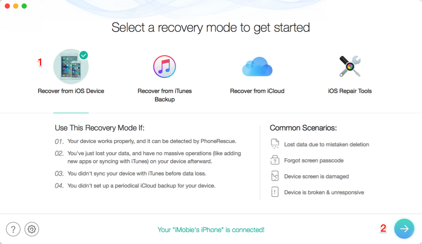 How to Restore iPhone without Backup – Step 1