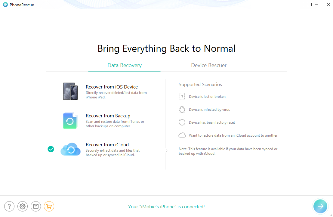 How to Retrieve Data from iCloud without Restoring - Step 2