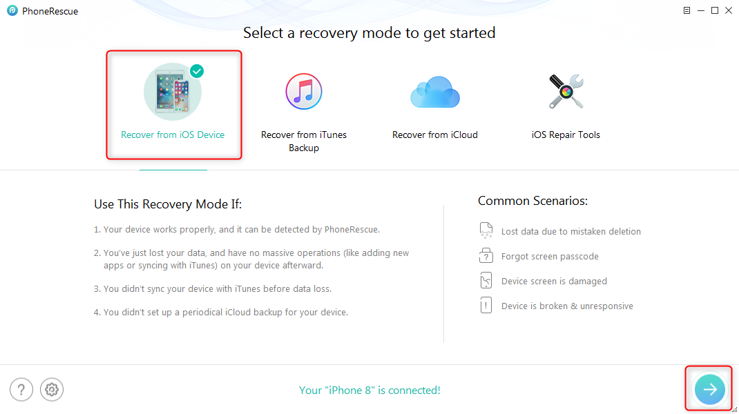 Retrieve Deleted Contacts on iPhone 5/5s/5c – Step 1