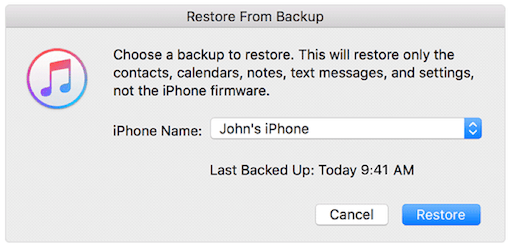 Restore Deleted Texts Messages from iTunes Backup - Step 2