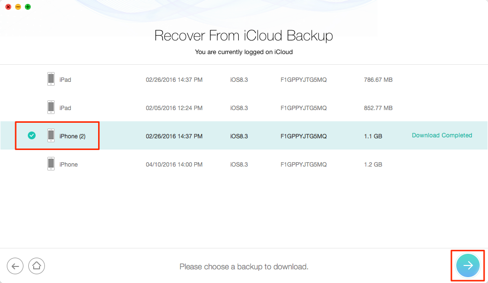 Retrieve Deleted Text Messages on iPhone 4/4s from iCloud Backup