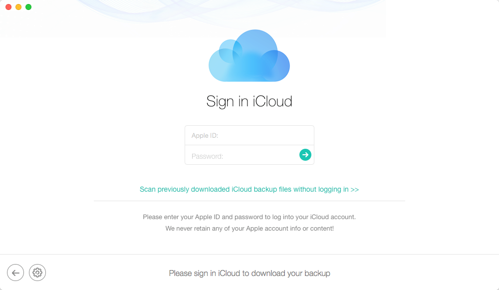 Retrieve Deleted Messages on iPhone 6 (Plus) from iCloud Backup – Step 2