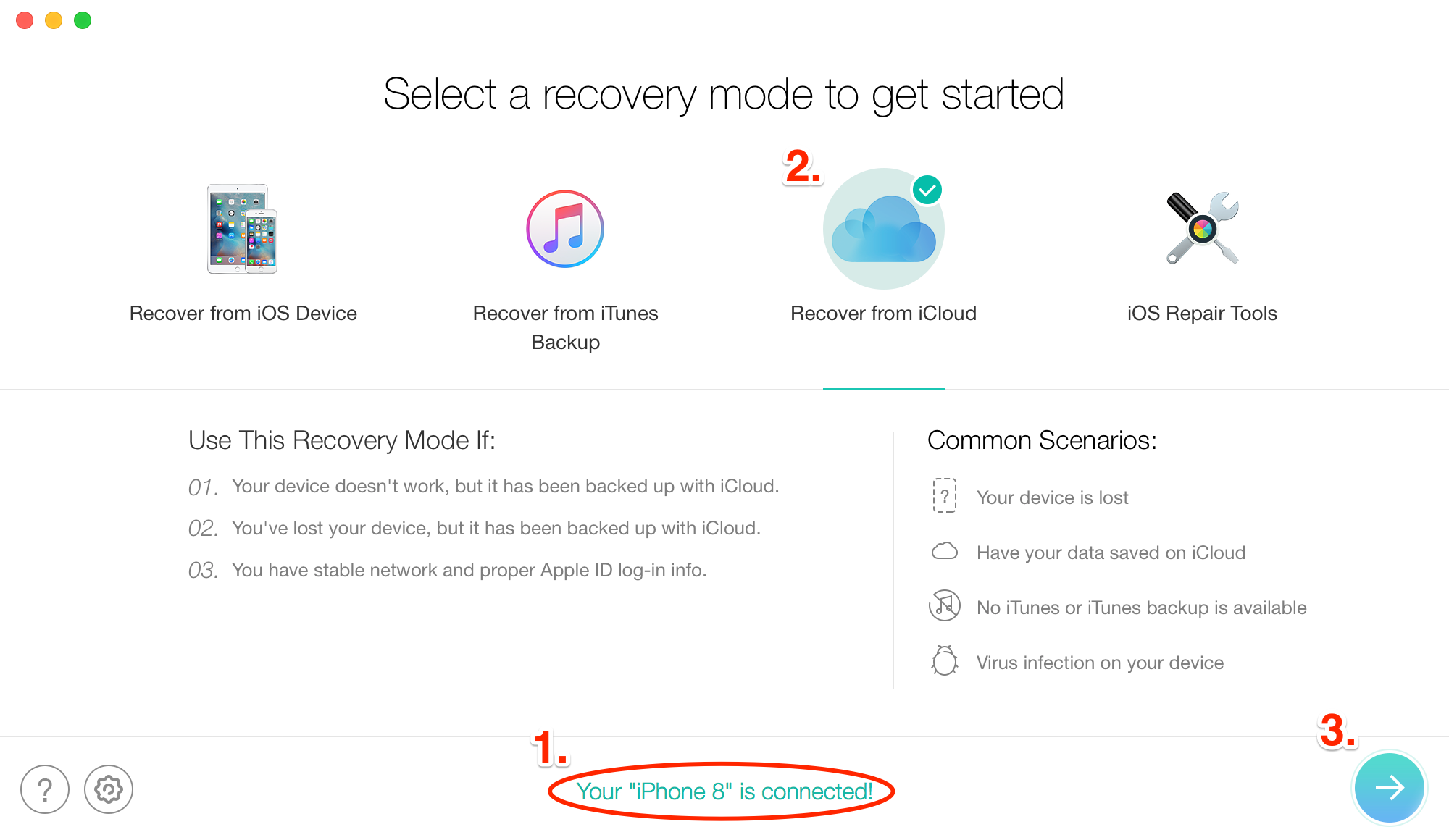 How to Recover Deleted Text Messages on iPhone from iCloud - Step 2