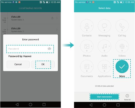 Restore Videos Using Huawei's Backup App