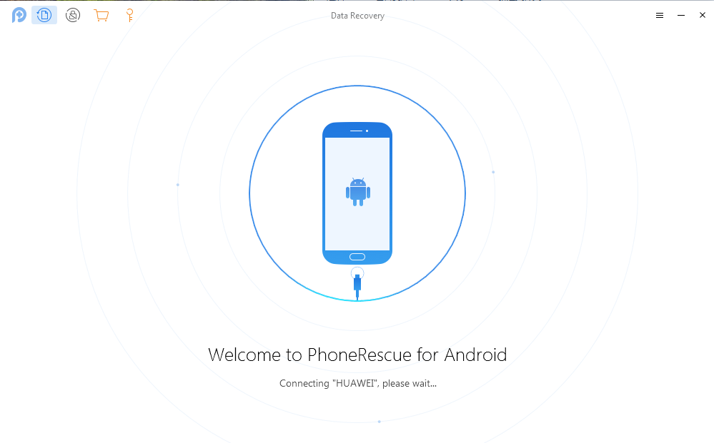 Connect Huawei Phone and Run PhoneRescue for Android