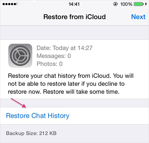 transfer whatsapp from iphone to iphone without icloud