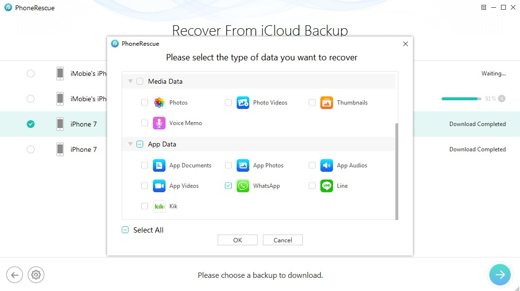 How to Recover WhatsApp Messages from iCloud – Step 2