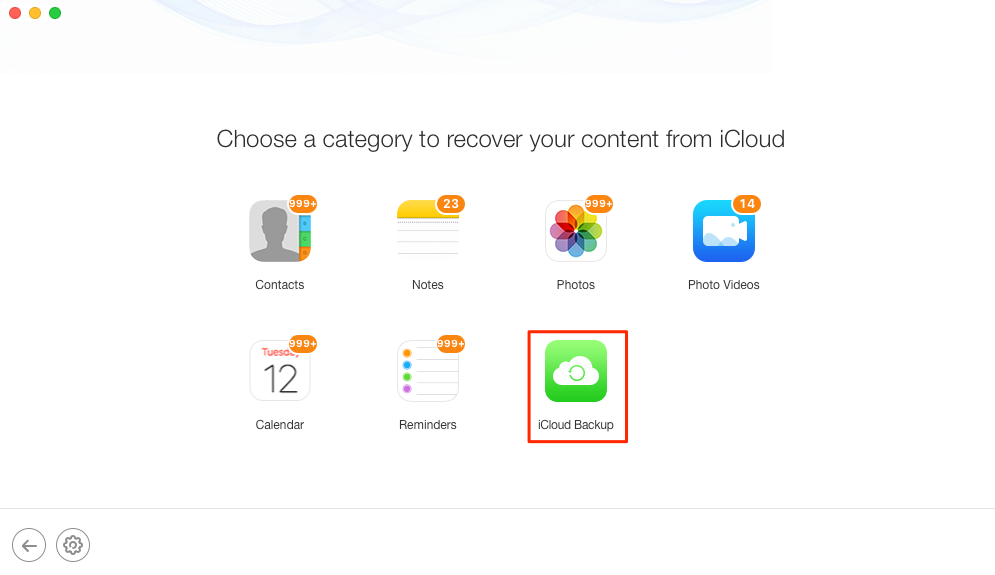 How to Retrieve Photos from iCloud Backup - Step 2