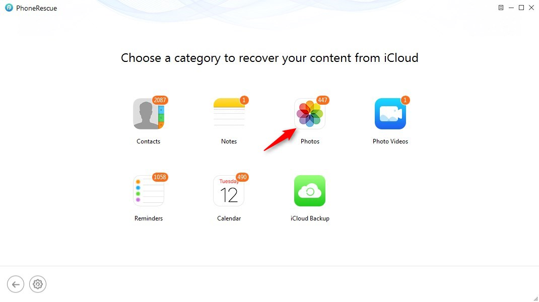 How to Retrieve Photos from iCloud - Step 3