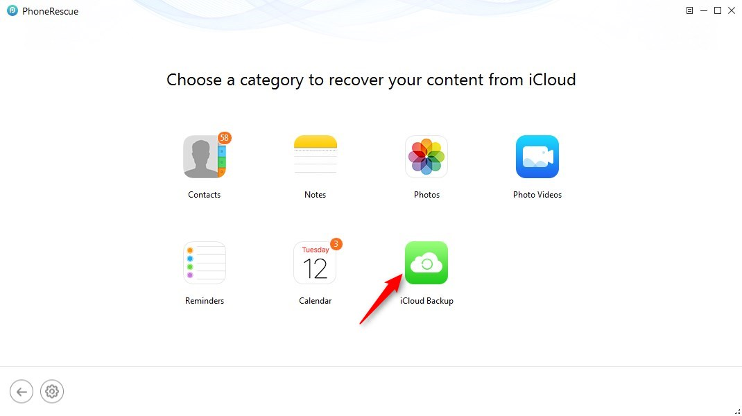 How to Retrieve Photos from iCloud Backup - Step 3