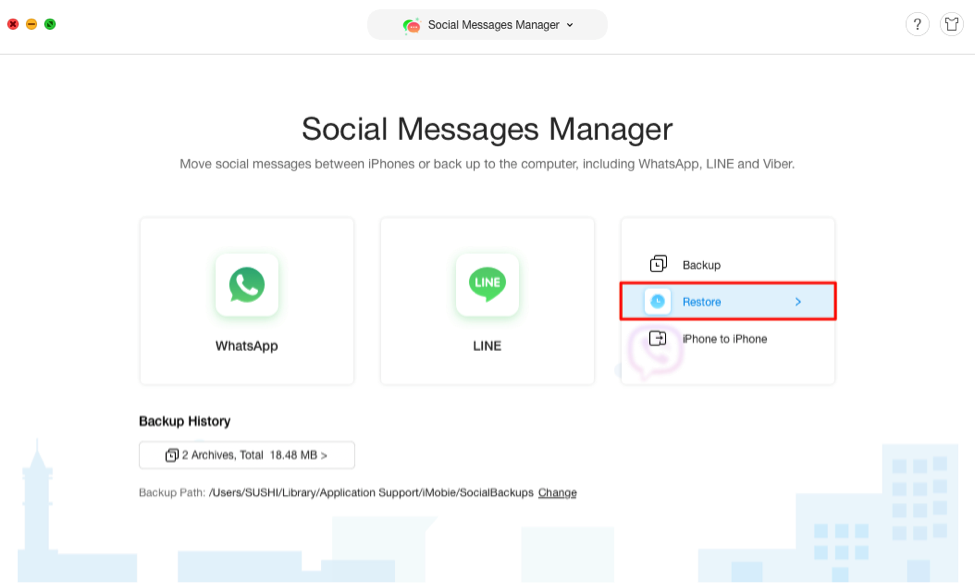How to Recover Deleted Viber Messages on iPhone - Step 2