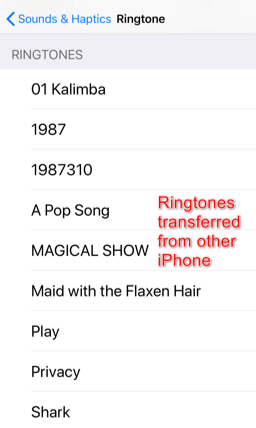 How to Send Ringtones to Another iPhone – Step 4