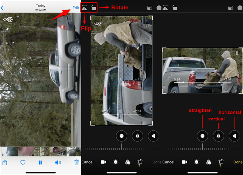 Rotate and Flip a Video in Photos