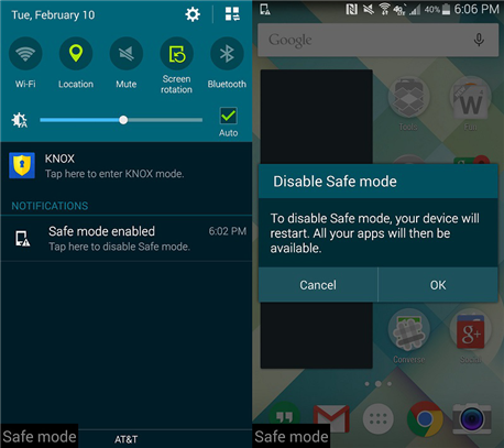 How to Turn off Safe Mode on Android Phone/Tablet via Notification Panel