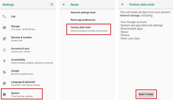 How to Turn off Safe Mode on Android Phone/Tablet via Factory Reset