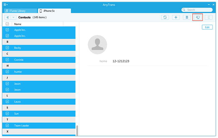 How to Save Contacts from iPhone to PC – Step 2