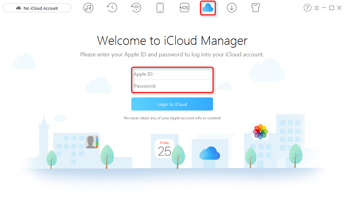 How to Transfer Photos to iCloud Drive with AnyTrans – Step 1