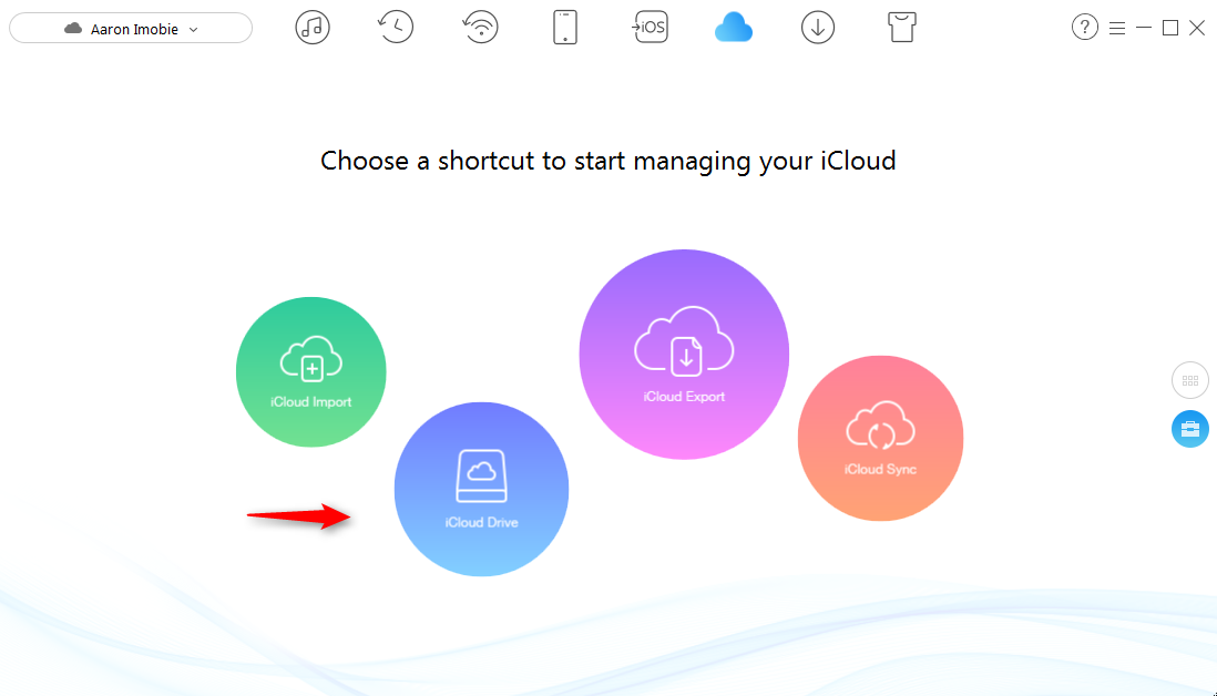 How to Transfer Photos to iCloud Drive with AnyTrans – Step 2