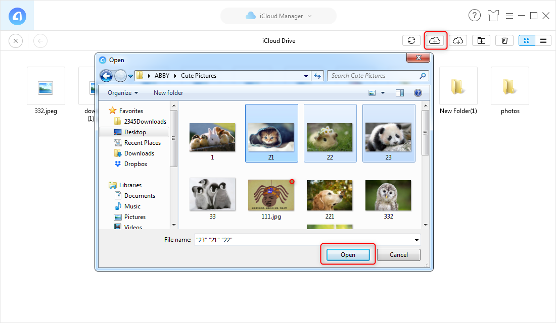 How to Transfer Photos to iCloud Drive with AnyTrans – Step 3
