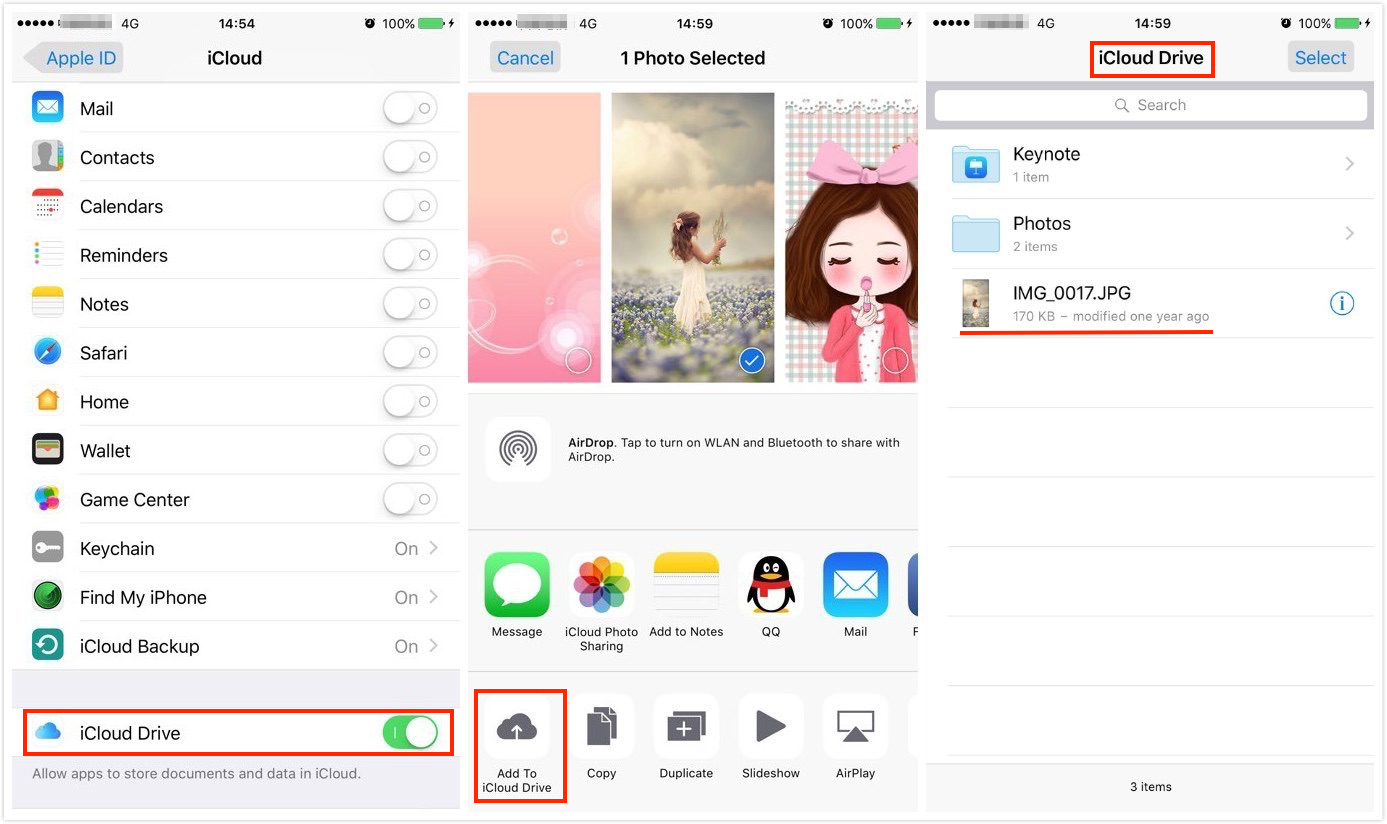 How to Save Photos to iCloud Drive from iPhone