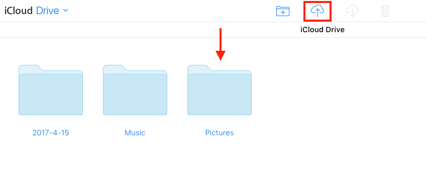 How to Save Photos to iCloud Drive on Web - Step 2