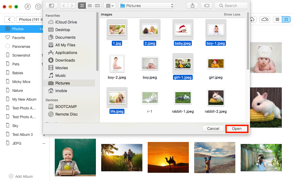 how to select multiple pictures on icloud to delete