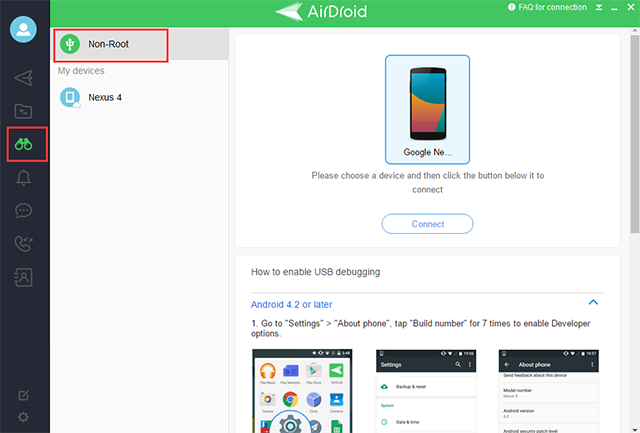 Mirroring Android to PC using AirDroid