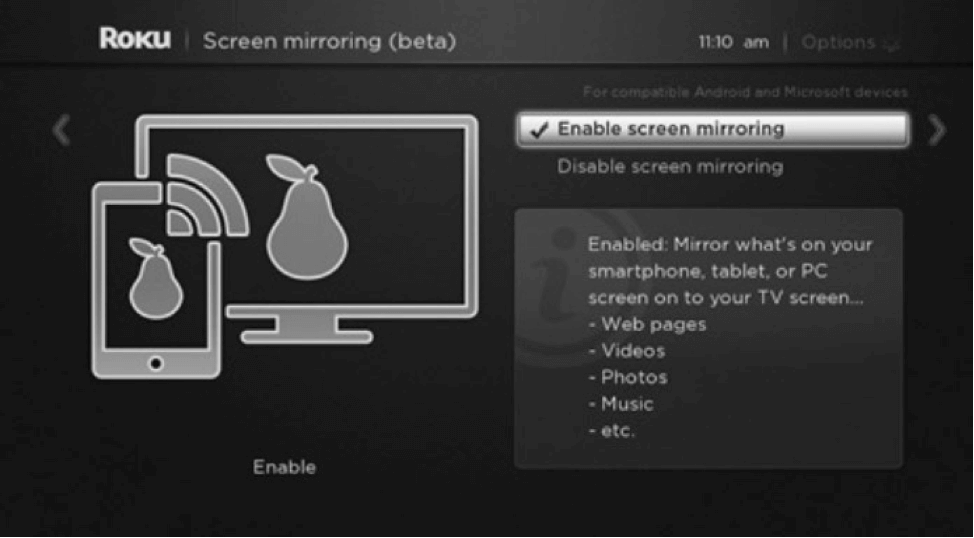 How to Screen Mirroring iPhone to Roku - Setting Roku Receiver