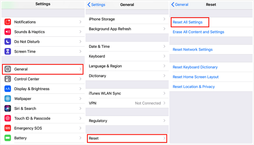 Fix iOS 12/12.1 Screen Time Not Working on iPhone/iPad – Reset All Settings