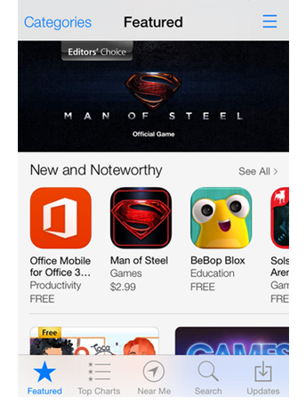 Featured iCon in the App Store on iPhone