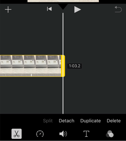 Select the Video Speed Tool in iMovie