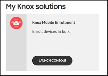Knox Mobile Enrollment