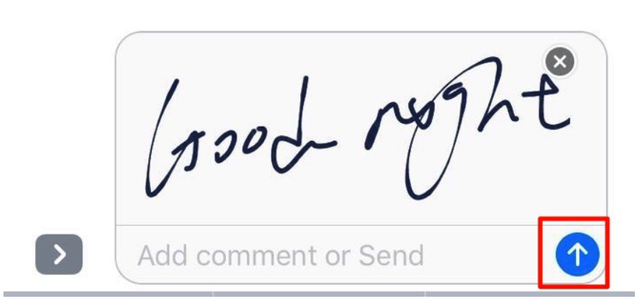 How to Send Handwritten Message in iOS 10 – Step 4