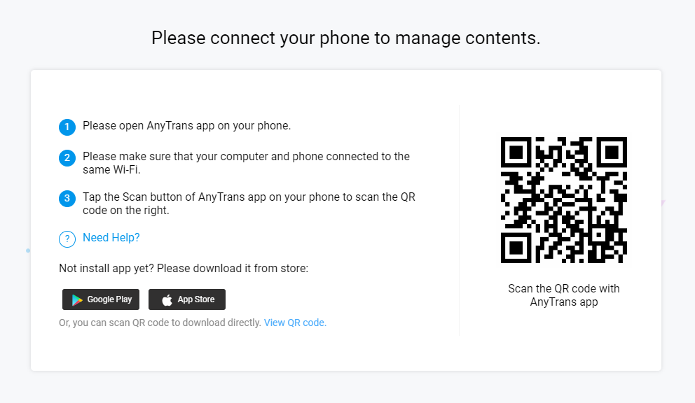 Send Large Video Files from Android to iPhone Wirelessly - Step 2