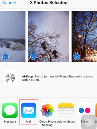 Send Photos from iPhone to Mac with Email