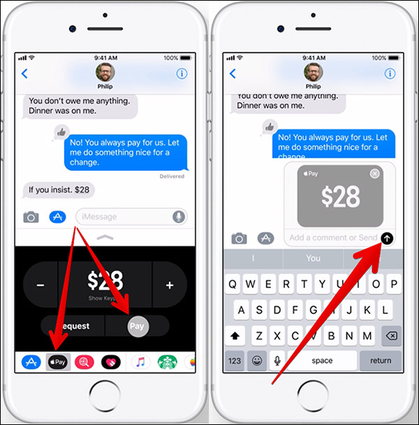 How to Send/Receive Money through iMessage in iOS 11 - Step 3