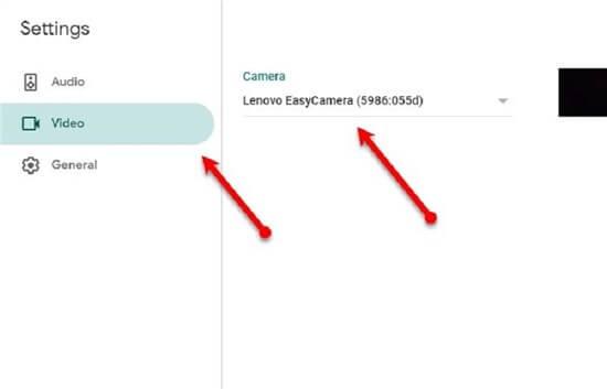 Set your Lenovo Camera as Default